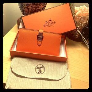 Handbags - Hermès Orange wallet